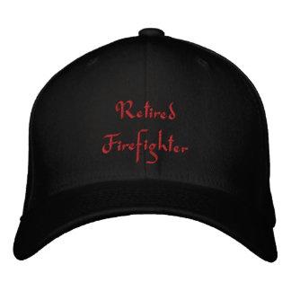 Pensionierter Feuerwehrmann gestickter Hut Bestickte Baseballmütze