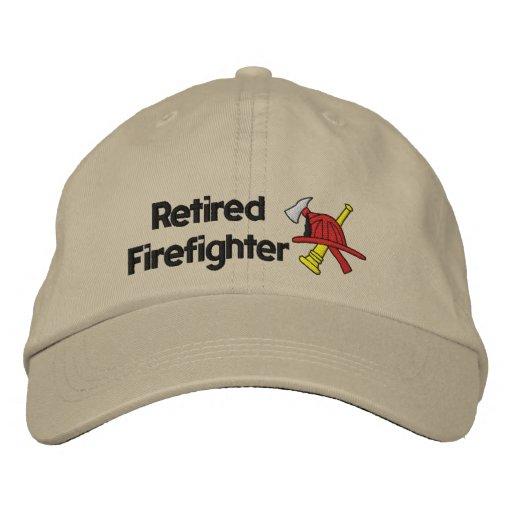 Pensionierter Feuerwehrmann gestickter Hut Bestickte Mützen