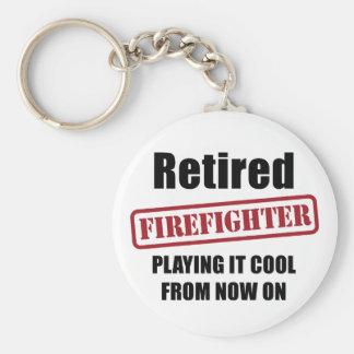 Pensionierter Feuerwehrmann Schlüsselanhänger