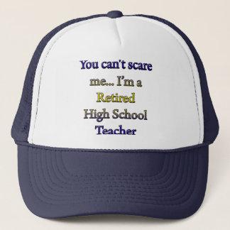 Pensionierter hoher Schullehrer Truckerkappe