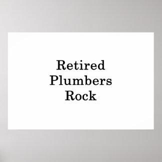 Pensionierter Klempner-Felsen Poster