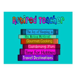 Pensionierter Lehrer-Geschenk-Stapel des Postkarte