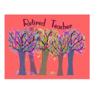 Pensionierter Lehrer-künstlerischer Baum-Entwurf Postkarte