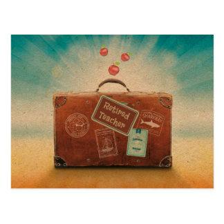 Pensionierter Lehrer, mehr Zeit zu reisen Postkarte