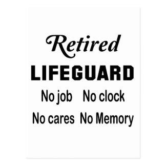 Pensionierter Leibwächter, kein Job keine Uhr Postkarte