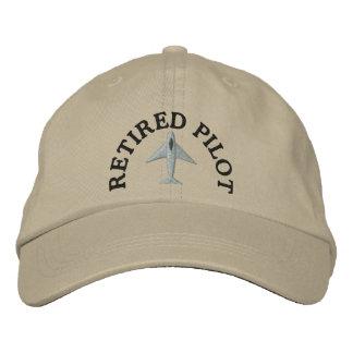 Pensionierter Pilot gestickter Hut