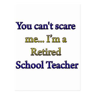 Pensionierter Schullehrer Postkarte