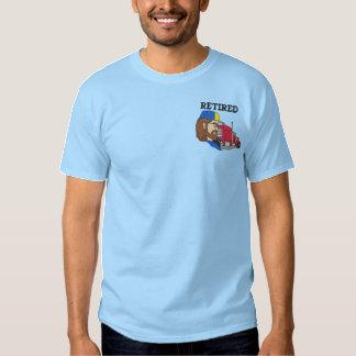 Pensioniertes Fernlastfahrer gesticktes Shirt