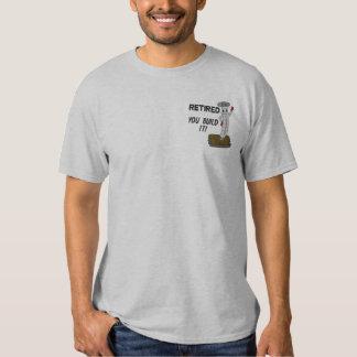 Pensioniertes Tischler gesticktes Shirt