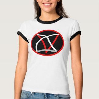 PENT. INV.Camiseta Weiblicher Ringer, Weißer/Schwa T-Shirt