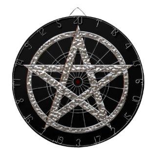Pentagram gehämmerte Chrom-Dartscheibe Dartscheibe