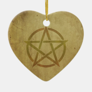 Pentagram gemasert keramik ornament