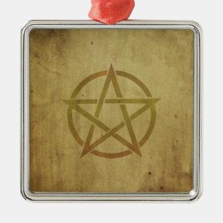 Pentagram gemasert silbernes ornament