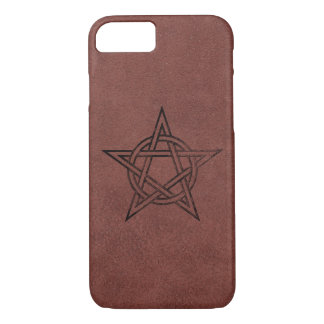 Pentagram - heidnisches magisches Symbol auf rotem iPhone 8/7 Hülle