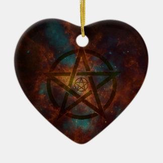 Pentagram Keramik Ornament