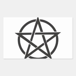 Pentagram Rechteckiger Aufkleber