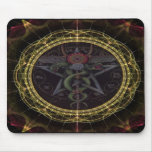 Pentagram-Schlangen Mauspads