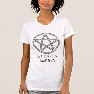 Pentagramm, da ich es werde, so ist es T-Shirt