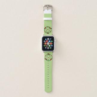 Pentagramm der Reben und der Roten Rosen Apple Watch Armband