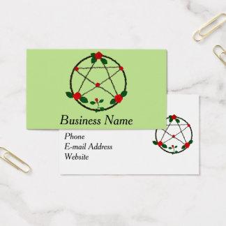 Pentagramm der Reben und der Roten Rosen Visitenkarte