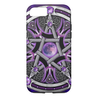 Pentagramm des lila Mondes iPhone 8/7 Hülle