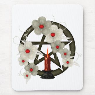 Pentagramm ein Kerze Mousepad