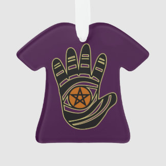 Pentagramm-Handacryl Ornament