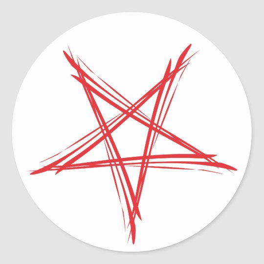 Pentagramm pentacle runder aufkleber