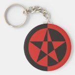 Pentagramm rot schwarz schlüsselanhänger