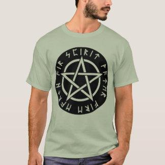 Pentagramm-T-Stück mit Rune-Elementen T-Shirt