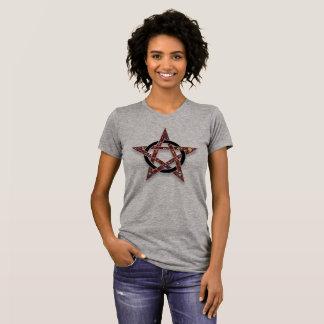 Pentagramm umkreistes Stern heidnisches Wicca T-Shirt