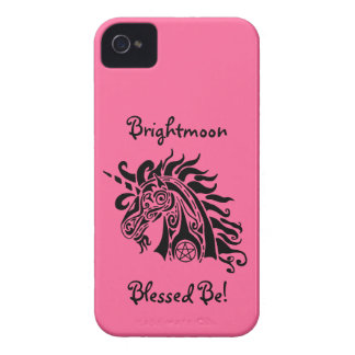 PentagrammUnicorn (blck) iPhone 4 kaum dort Fall Case-Mate iPhone 4 Hüllen