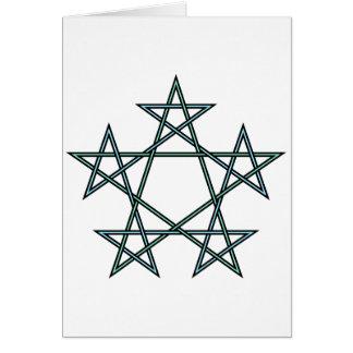 Pentagrams-verschachteln-Muster Karte