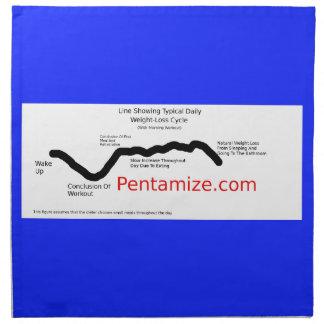 Pentamize.com-Gewichts-Verlust-Zyklus Infographic Serviette