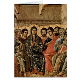 Pentecost durch Duccio Grußkarte