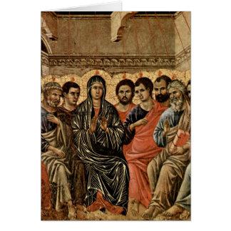 Pentecost durch Duccio Karte