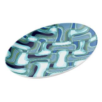 Penthaus-u. Porzellan Servierplatte