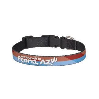 Peoria-Flaggen-Hundehalsband, klein Haustierhalsband