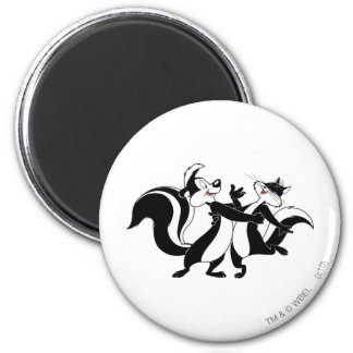 Pepe Le Pew und Penelope 3 Magnets
