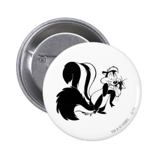 Pepe Le Pew und Penelope Runder Button 5,7 Cm