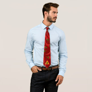 Peperonigefahrenzeichen Krawatte
