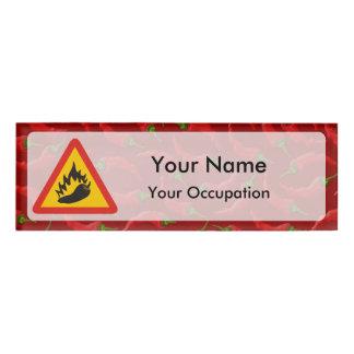 Peperonigefahrenzeichen Namensschild Namenschild