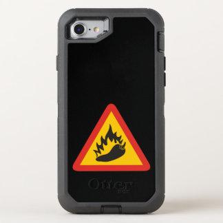 Peperonigefahrenzeichen OtterBox Defender iPhone 8/7 Hülle