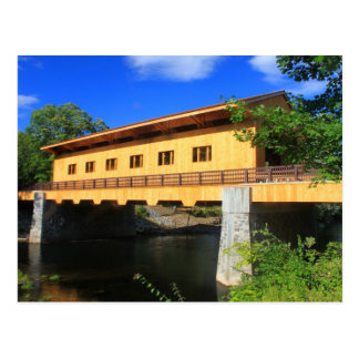 Pepperell MA neue Brücken-Fluss-Ansicht Postkarte