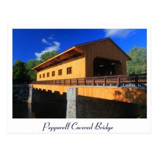 Pepperell MA neue überdachte Brücke Postkarte
