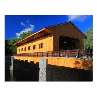 Pepperell Massachusetts neue überdachte Brücke Postkarte