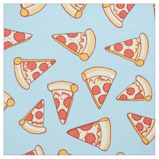 Pepperoni-Pizza, die Muster-Baumwollgewebe Stoff