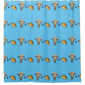 Pepperoni-Pizza GEGEN Taco: Mexikaner gegen Duschvorhang