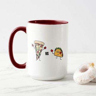 Pepperoni-Pizza GEGEN Taco: Mexikaner gegen Tasse