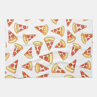 Pepperoni-Pizza-Scheibe, die Muster-Tee-Tuch Handtuch